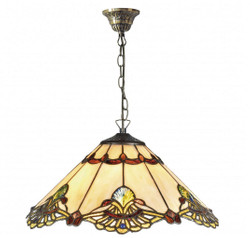 Casa Padrino Luxury Tiffany Pendant Lamp Multicolor Ø 40 x H. 83 cm - Handmade Pendant Lamp Made Of 264 Pieces
