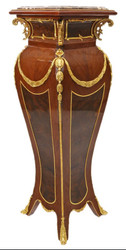 Casa Padrino Baroque column mahogany / gold - side table - pillar 126 x 40 cm
