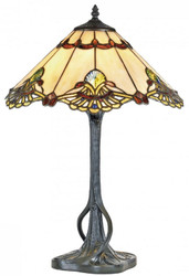 Casa Padrino luxury Tiffany table lamp black / multicolor Ø 40 x H. 62 cm - Luxury Quality