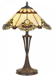 Casa Padrino luxury Tiffany table lamp multicolor Ø 40 x H. 60 cm - Luxury Quality