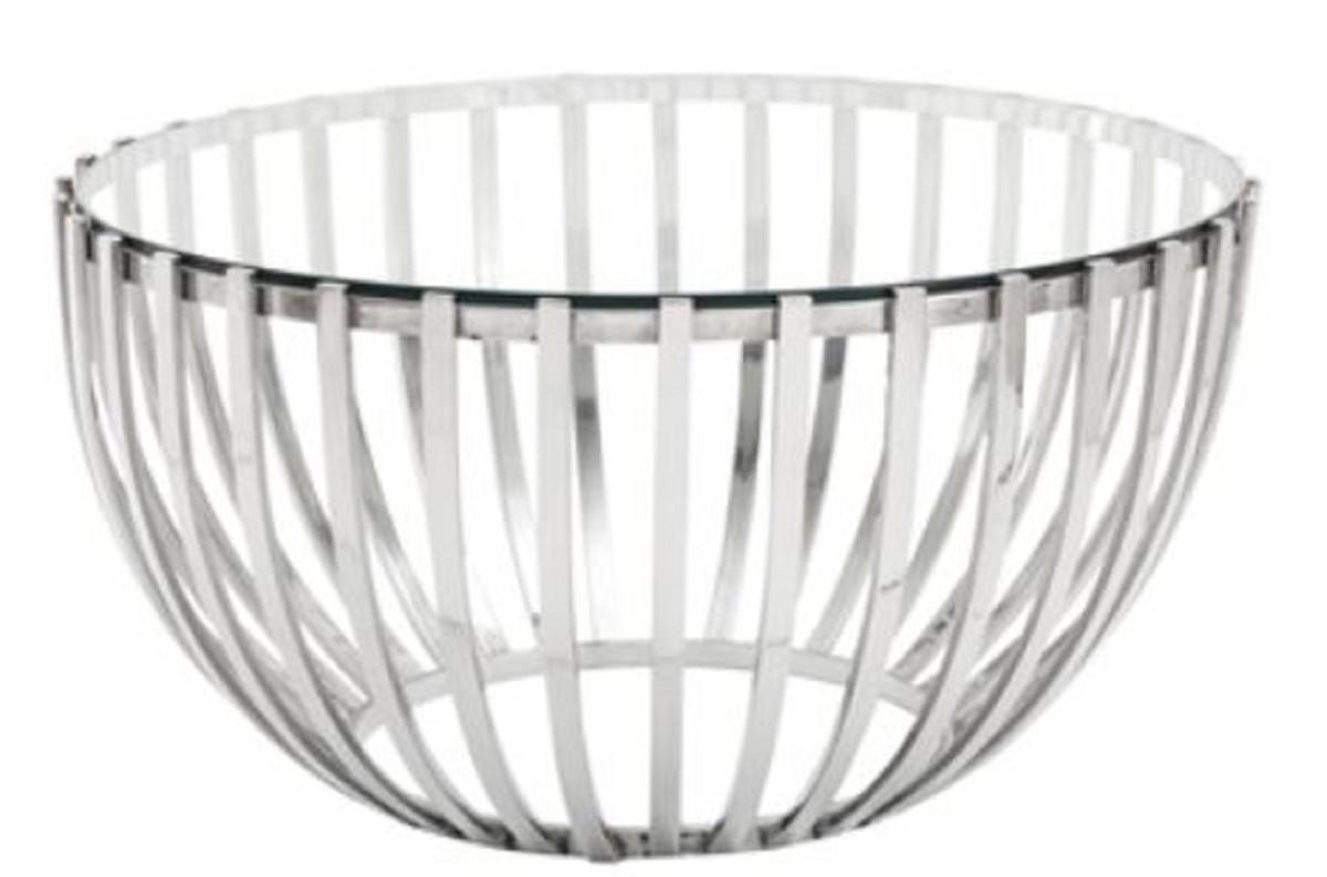 - Casa Padrino Luxury Coffee Table Silver Ø 81 X H. 43 Cm - Round