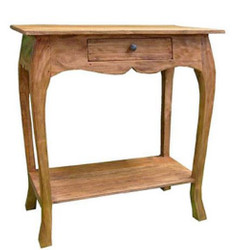 Casa Padrino country style console with drawer light brown 70 x 39 x H. 75 cm - Country Style Furniture