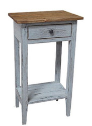 Casa Padrino Country Style Flower Table Brown / Antique White 40 x 30 x H. 70 cm - Shabby Chic Side Table with Drawer