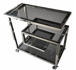 Casa Padrino luxury serving trolley silver / black 83 x 42 x H. 78 cm - Hotel Restaurant Gastronomie Trolley