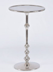 Casa Padrino Art Nouveau Side Table Silver 30 x 22 x H. 50 cm - Small Aluminum Table