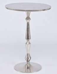 Casa Padrino Art Nouveau Side Table Silver 35 x 22 x H. 50 cm - Small Aluminum Table