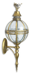 Casa Padrino Art Nouveau Wall Lantern Antique Brass 34.5 x 30.7 x H. 91 cm - Baroque & Art Nouveau Decoration Accessories