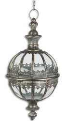 Casa Padrino Art Nouveau Hanging Lantern Antique Silver Ø 27.5 x H. 53.8 cm - Baroque & Art Nouveau Decoration Accessories
