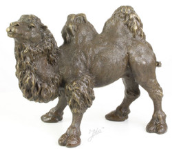 Casa Padrino luxury bronze figure camel bronze / gold 44 x H. 34 cm - Noble Bronze Sculpture