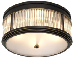Casa Padrino luxury ceiling light bronze / white Ø 40.5 x H. 18.5 cm - Luxury Quality