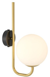 Casa Padrino Luxury Wall Lamp Gold / Black / White 15 x 22 x H. 36 cm - Hotel & Restaurant Lamp