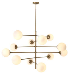 Casa Padrino luxury chandelier antique brass / white Ø 122 x H. 69 cm - Luxury Quality