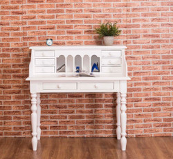 Casa Padrino Country Style Desk White 109 x 60 x H. 110 cm - Office Furniture
