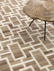 Casa Padrino luxury jute carpet natural / white 300 x 400 cm - Luxury Living Room Accessories
