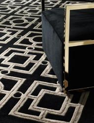 Casa Padrino Luxury Hotel Carpet Black / Taupe - Various Sizes - Luxury Hotel Accessories