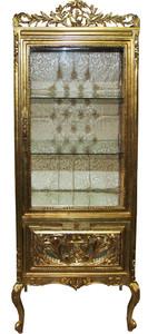 Casa Padrino Baroque Display Cabinet Gold / Gold - Display Cabinet - Living Room Cabinet Glass Cabinet - Antique Look – Bild 1