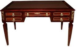 Casa Padrino Luxus Barock Schreibtisch Sekretär 5 Schubladen 120 cm - Handgefertigt aus Massivholz - Barock Schreibtisch Büro Möbel