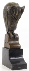Casa Padrino designer bronze sculpture owl bronze / black 11 x 6.7 x H. 25.3 cm - Luxury Decoration Figure