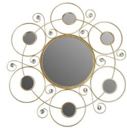 Casa Padrino Designer Wandspiegel Gold Ø 50 cm - Designer Spiegel