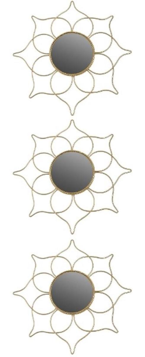 Casa Padrino Designer Spiegel Set Gold O 25 Cm Wandspiegel 3er Set