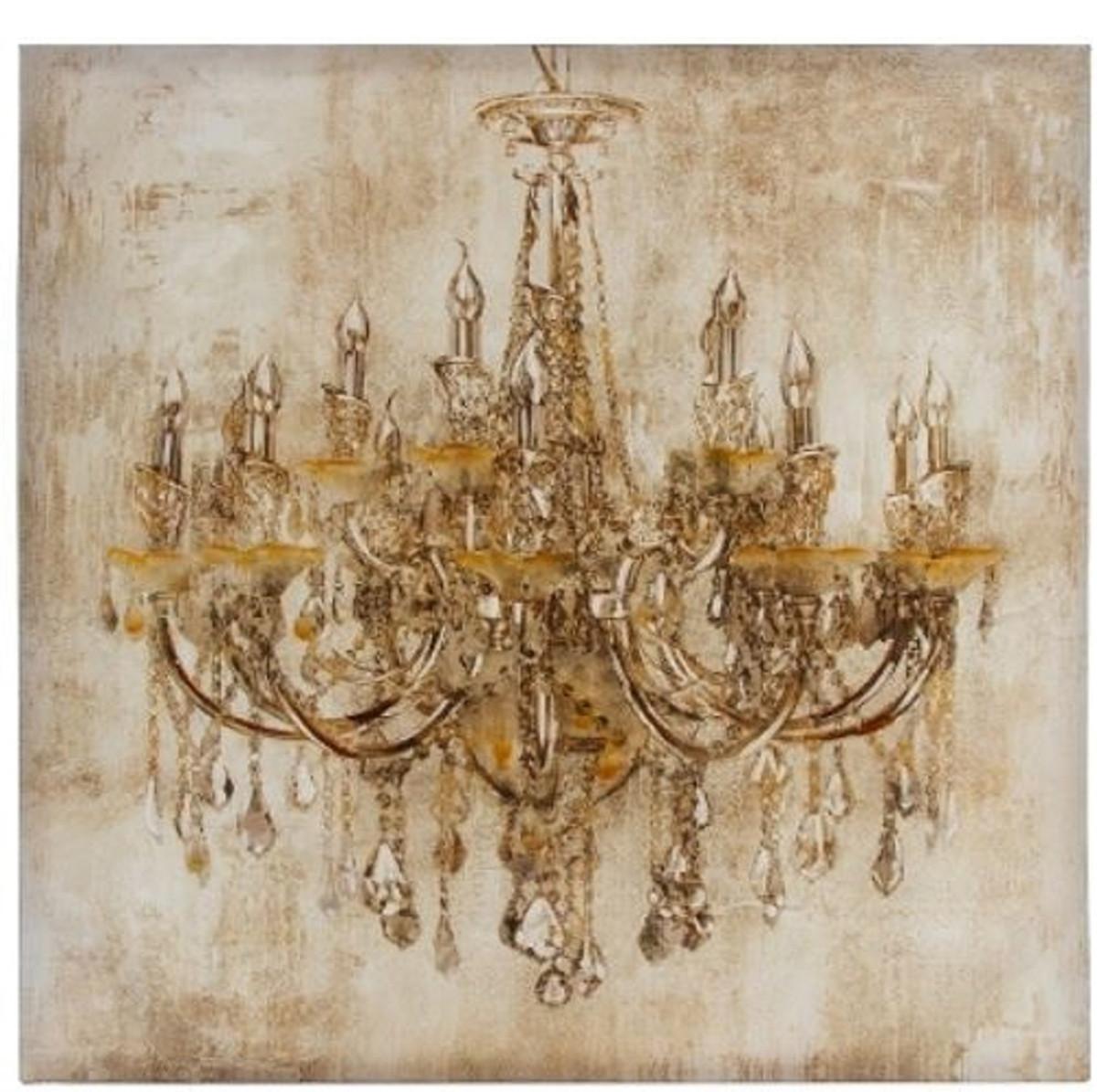 Casa padrino barock lgem lde kronleuchter mehrfarbig 80 x h 80 cm prachtvolles lbild gem lde - Kronleuchter barock ...