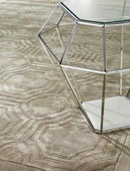 Casa Padrino Luxury Viscose Living Room Carpet Sand - Various Sizes - Hand Woven Luxury Carpet