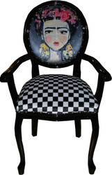 Casa Padrino Baroque luxury ladies chair girl with flower wreath on the head - Limited Edition