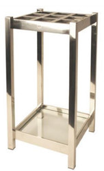 Casa Padrino Luxury Stainless Steel Umbrella Stand Silver 30 x 30 x H. 70 cm - Luxury Accessories