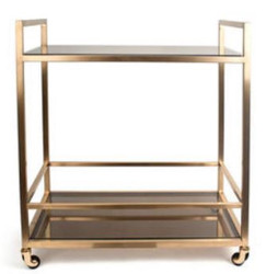 Casa Padrino Luxury Serving Trolley Gold / Black 70 x 45 x H. 76 cm - Hotel Restaurant Gastronomie Trolley