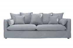 Casa Padrino Designer living room 3-seater sofa Gray - Luxury quality