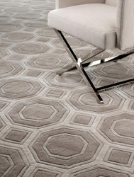 Casa Padrino Luxury Wool Carpet Brown / Gray - Various Sizes - Hand Tufted Luxury Carpet from New Zealand Wool
