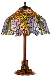 Casa Padrino Luxury Tiffany Table Lamp Brown / Multicolor Ø 40 x H. 61 cm - Luxury Quality