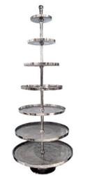 Casa Padrino Luxus Etagere 7-Stufig Silber Ø 90 x H. 240 cm - Hotel & Restaurant Accessoires
