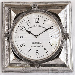 Casa Padrino luxury wall clock silver 40 x 9 x H. 41 cm - Decorative Clock Made of Aluminum