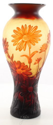 Casa Padrino Luxury Glass Deco Vase Lily Pond Multicolor Ø 19.2 x H. 45.4 cm - Cameo Glass Flower Vase