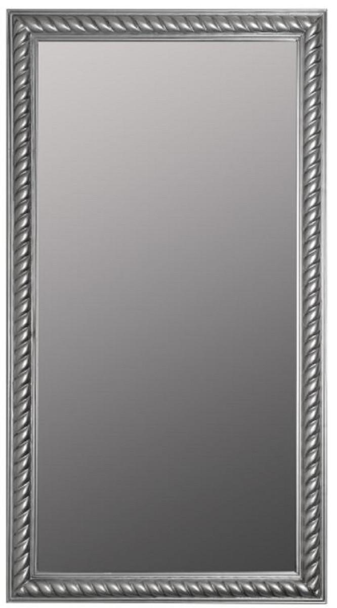 Casa Padrino Barock Wohnzimmer Spiegel Wandspiegel Antik Silber 72