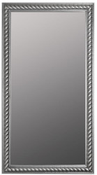 Casa Padrino Baroque Living Room Mirror / Wall Mirror Antique Silver 72 x H. 132 cm - Baroque Furniture