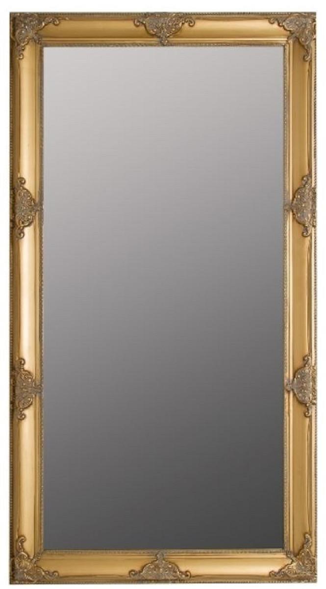 Casa Padrino Barock Wandspiegel Gold 8 x H. 8 cm - Handgefertigter  Barock Spiegel mit Holzrahmen und wunderschönen Verzierungen