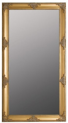 Casa Padrino Baroque Wall Mirror Gold 72 x H. 132 cm - Handcrafted Baroque Mirror with Wooden Frame and Beautiful Decorations