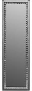Casa Padrino Luxus Schmuckschrank mit Spiegeltür Silber / Schwarz 35 x 9 x H. 120 cm - Luxus Kollektion