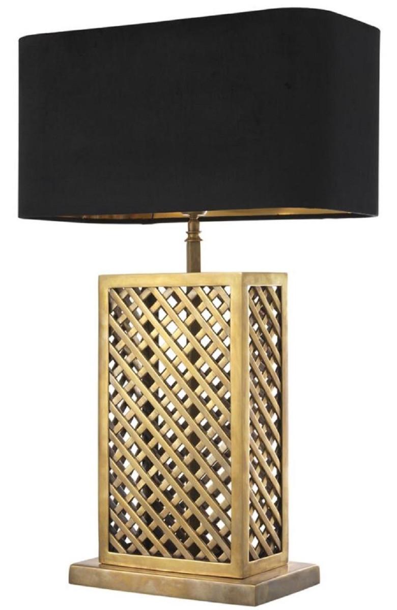 Casa Padrino Luxus Tischleuchte Vintage Messingfarben / Schwarz 46 x 22 x H. 72 cm - Luxus Qualität 2