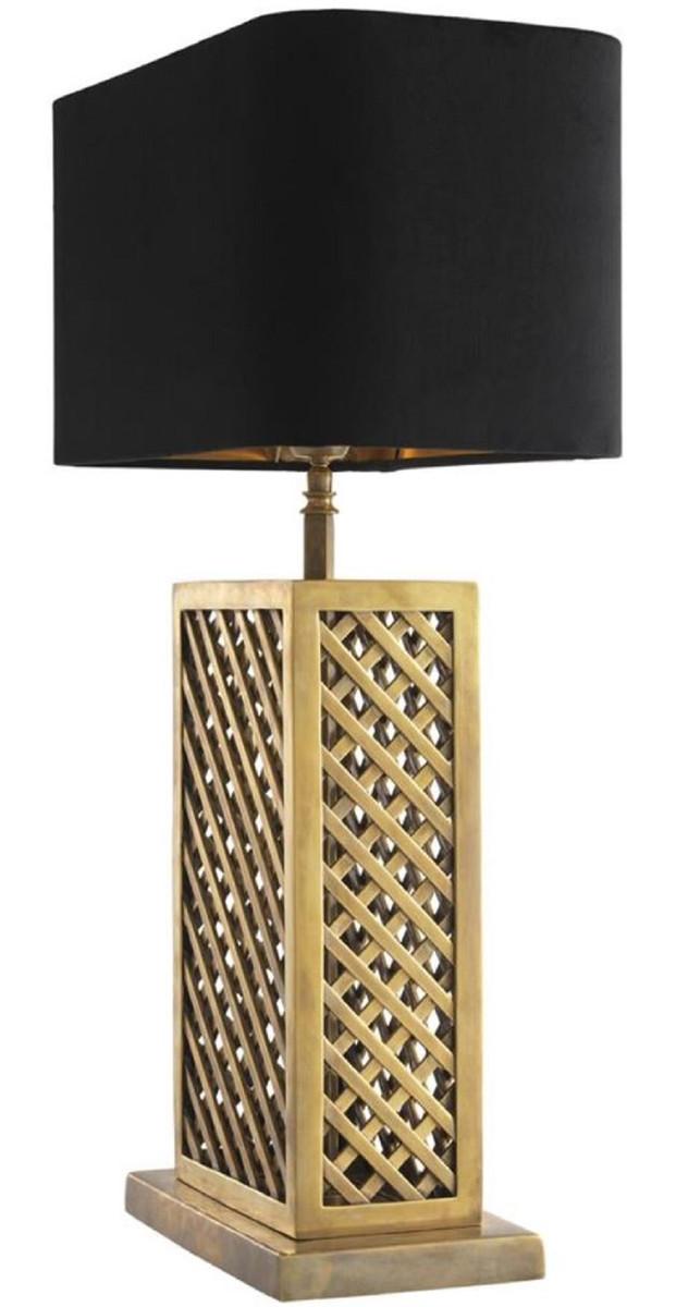 Casa Padrino Luxus Tischleuchte Vintage Messingfarben / Schwarz 46 x 22 x H. 72 cm - Luxus Qualität 4