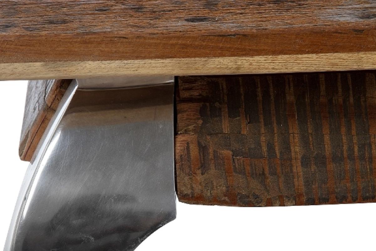 Casa Padrino Designer Couchtisch Braun / Silber 100 x 100 x H. 40 cm - Luxus Wohnzimmermöbel 4