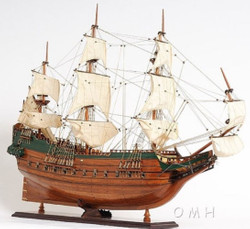 Casa Padrino Luxury Flagship Batavia Brown / Multicolor 94 x 26.7 x H. 74.3 cm - Handmade Dutch Deco Wooden Ship