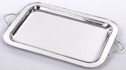 Casa Padrino luxury brass serving tray silver 64 x 38 x H. 3 cm - Gastronomy Accessories