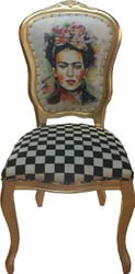 Casa Padrino Baroque luxury dining chair Madmoisell Gold - Designer chair - Limited Edition