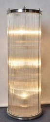 Casa Padrino Wohnzimmer Stehleuchte Silber Ø 32 x H. 100 cm - Runde Luxus Stehlampe