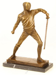 Casa Padrino Luxury Bronze Sculpture Fencer Gold / Bronze / Black 21.5 x 9.5 x H. 31 cm - Bronze Figure