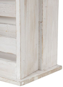 Casa Padrino Country Style Shabby Chic Wall Mounted Cabinet Antique White 44 x 17 x H. 59 cm - Handcrafted Wall Cabinet with Mirror – Bild 4