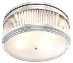 Casa Padrino Luxus Deckenleuchte Silber Ø 40,5 x H. 18,5 cm - Runde Deckenlampe